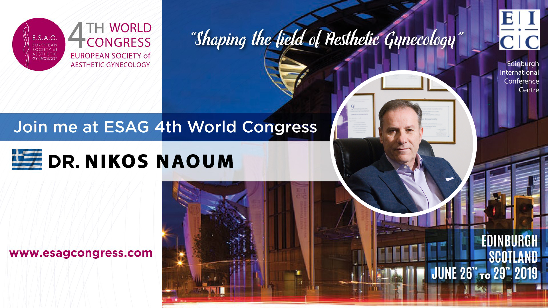 Dr. Naoum at the 4TH WORLD CONGRESS of ESAG
